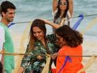 Carol Portaluppi participa de clipe sertanejo e conta que quer virar atriz