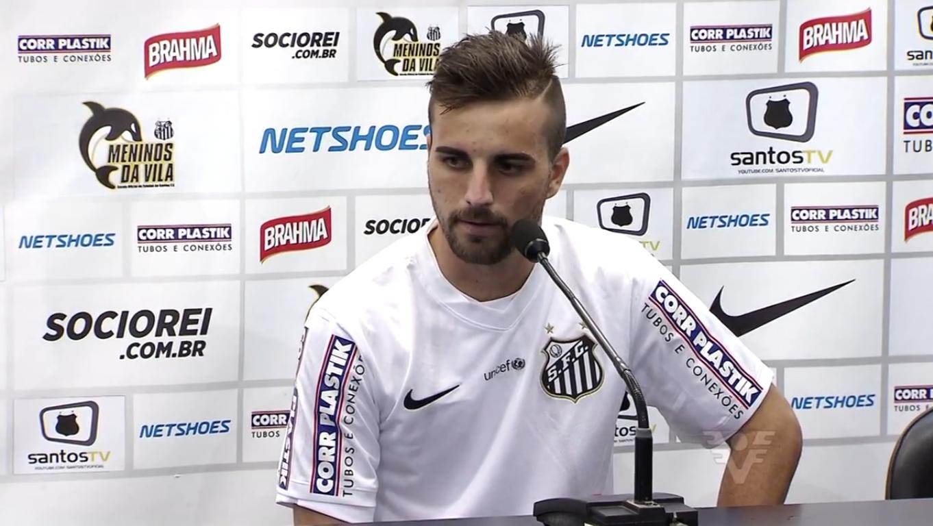 Rafael Longuine é o primeiro reforço do Santos para a temporada (Foto: Reprodução/TV Tribuna)