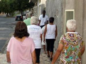 Caminhada Terapêutica caminhada Arcos MG atividade (Foto: Lucielen Cristina/Arquivo pessoal)