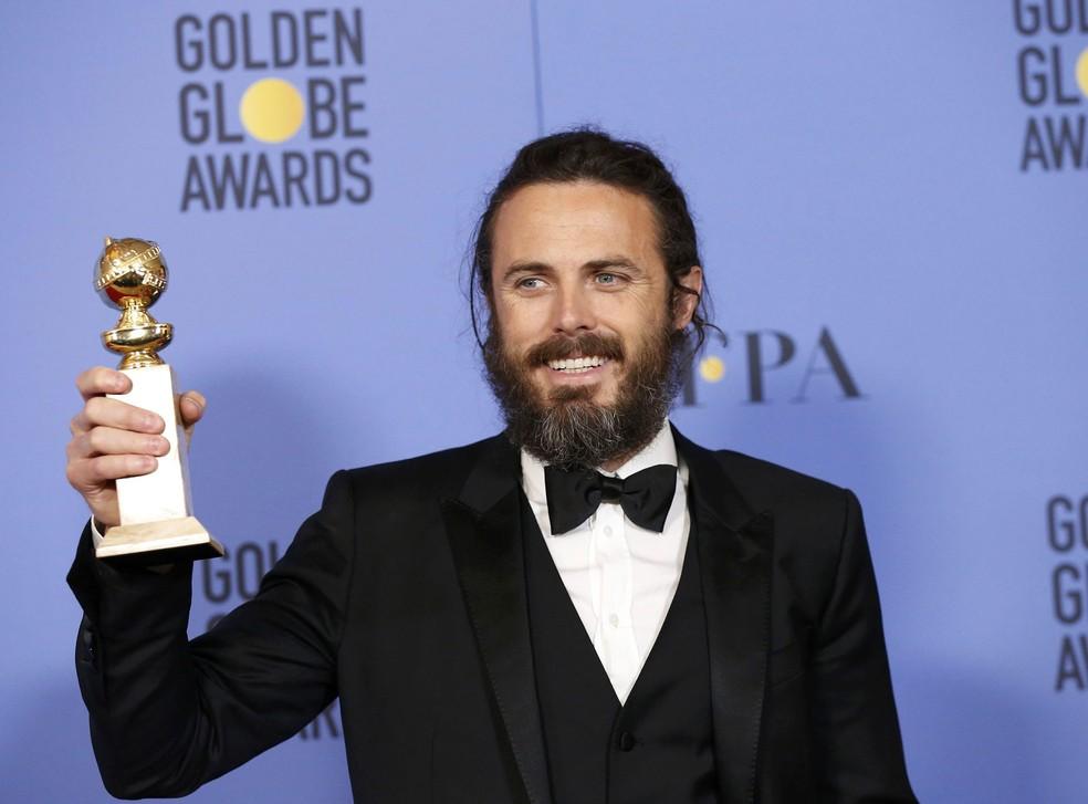 Casey Affleck ganhou o Globo de Ouro 2017 por 'Manchester à beira-mar' (Foto: Mario Anzuoni/Reuters)