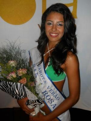 Andressa Ferreira foi Garota Verão de Santa Rosa em 2011 (Foto: Arquivo RBS TV Santa Rosa)