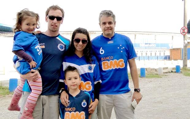torcida do Cruzeiro em Florianópolis (Foto: Tarciso Neto / Globoesporte.com)