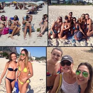 Mari Paraíba Carol Gattaz Lara Nobre praia Rio vôlei (Foto: Reprodução/Instagram)