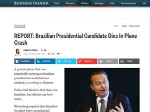 Reprodução da notícia no site Business Insider (Foto: Reprodução/Business Insider)