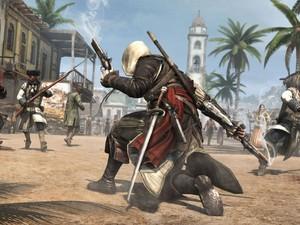 Os combates continuam o ponto alto da série em 'Assassin's Creed IV', que terá armas do período histórico além de um arsenal da Ordem dos Assassinos.  (Foto: Divulgação)