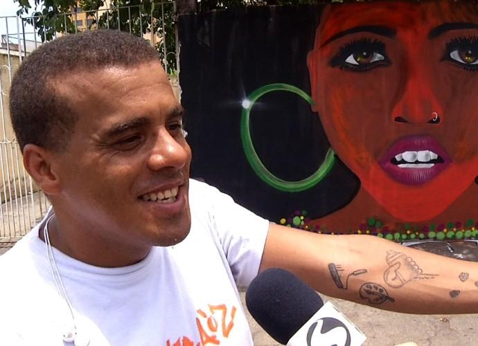 Daniel quis marcar na pele seu amor pelo grafite (Foto: Reprodução/ Rio Sul Revista)
