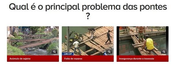 Enquete libcom pontes 606 (Foto: Reprodução / TV Liberal)