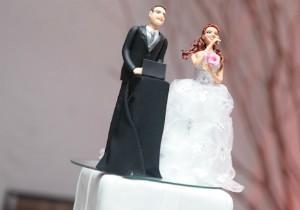 A catarinense aparece cantando até no bolo de casamento (Foto: Arquivo pessoal/Janaína Cruz)
