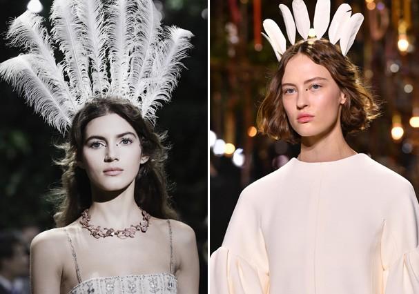 Penas inspiraram a coleção da Dior (Foto: Getty Images)