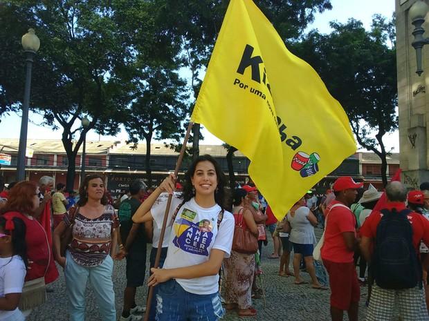 Laís é militante do Kizomba (Foto: Mariana Carvalho/ G1)