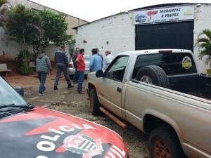 Crime aconteceu próximo a empresa da vítima  (Foto: Polícia Civil/ Divulgação )