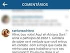 Ex-BBB Adriana questiona Aline sobre empregada e gera polêmica na web