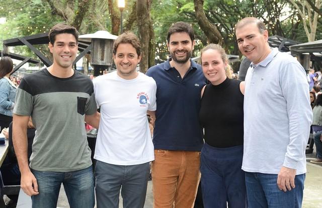 Frederico Mattos, Carlinhos Jereissati, Gui Sawaya, Fernanda Pires e Roberto Vidal (Foto: Lu Prezia e Rodrigo Zorzi)
