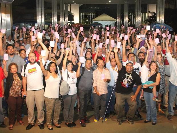 Bancários do DF decidem iniciar greve em assembleia nesta segunda-feira (5) (Foto: Sindicato dos Bancários de Brasília/Divulgação)