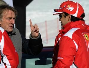 Luca di Montezemolo e Felipe Massa em evento da Ferrari no início do ano (Foto: AFP)