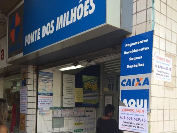 Fachada da casa lotérica que fica no bairro São Paulo, em BH (Foto: Izaías Oliveira / Arquivo Pessoal)
