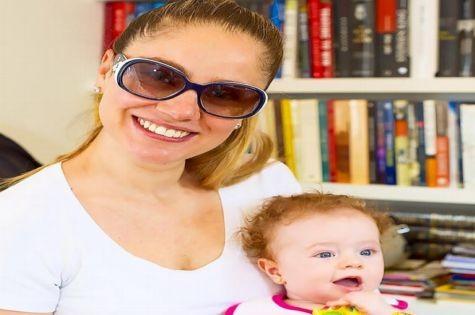 Juliana Baroni e a filha, Maria Eduarda (Foto: Arquivo pessoal)