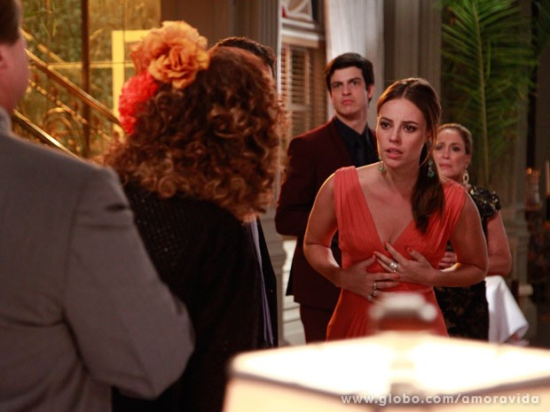 Paloma enfrenta M�rcia e diz que ela est� mentindo (Foto: Ellen Soares/ TV Globo)