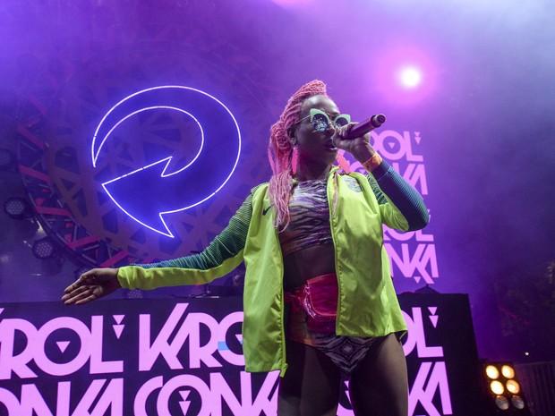 Karol Conka  faz show na Zona Sul do Rio (Foto: Felipe Panfili/ Divulgação)