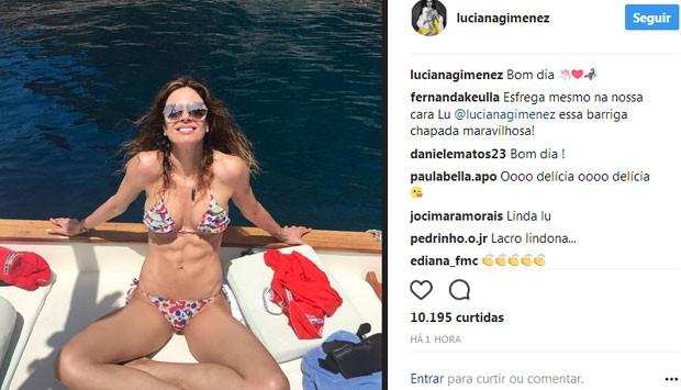 Fernanda Keulla comenta post de Luciana Gimenez (Foto: Reprodução)