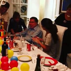 Silvio Santos comemora aniversário em família (Foto: Instagram/ Reprodução)