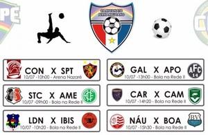 Tabela Campeonato Pernambucano fut 7 (Foto: Reprodução / Federação Society PE)