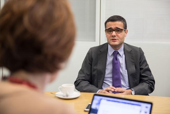 Economista-chefe do Itaú Unibanco, Mário Mesquita, durante entrevista à colunista Thaís Herédia
