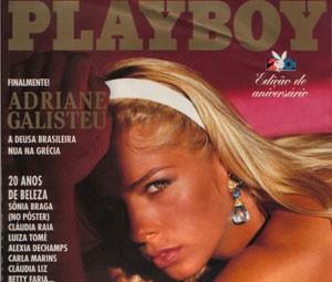 Capa da edição de agosto de 1995 da 'Playboy' (Foto: Divulgação)
