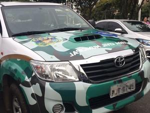 Viatura teria batido em carro de administrador (Foto: Marcelo Cantalice Carneiro Dias/ Arquivo pessoal)