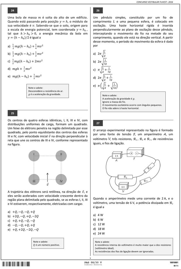 Fuvest - Caderno de Prova - 08 (Foto: Reprodução/Fuvest)