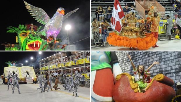 Veja os melhores momentos da primeira noite de desfiles do carnaval de Porto Alegre (Foto: Reprodução/RBS TV)