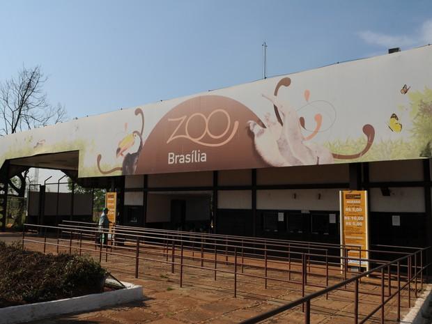 Fachada Jardim Zoológico de Brasília (Foto: Pedro Ventura/Agência Brasília)