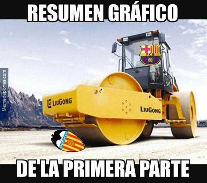 BLOG: Atropelo: goleada do Barcelona sobre o Valencia vira piada nas redes sociais