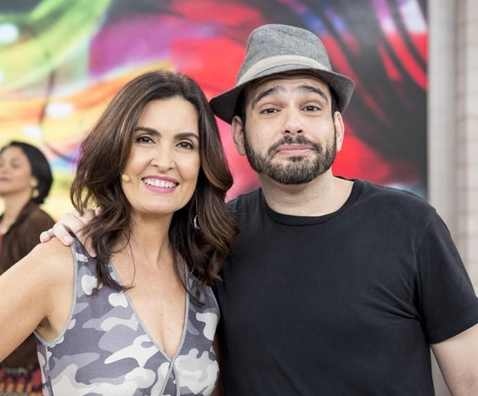 Fátima e o parceiro Henrique Fedorowicz (Foto: Ellen Soares/Gshow)