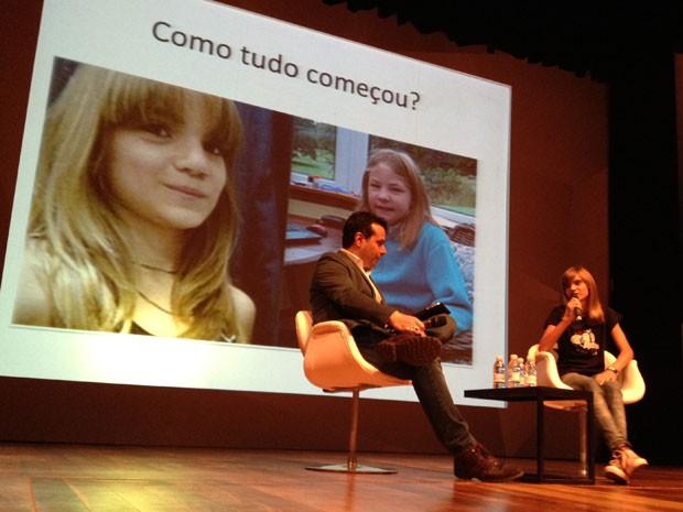 A estudante Isadora Faber participou de um seminário em São Paulo como palestrante (Foto: Ana Carolina Moreno/G1)