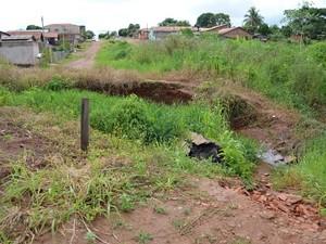 Ponte caiu há mais de um ano (Foto: Fernanda Bonilha/G1)