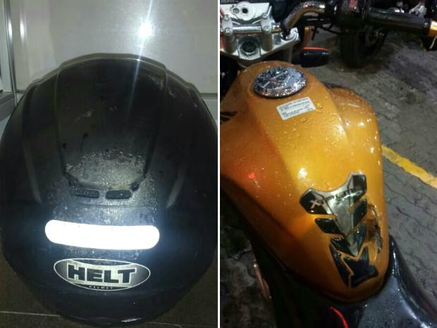 Motociclista morreu após ser atingido por um raio em Porto Alegre (Foto: Divulgação/PRF)