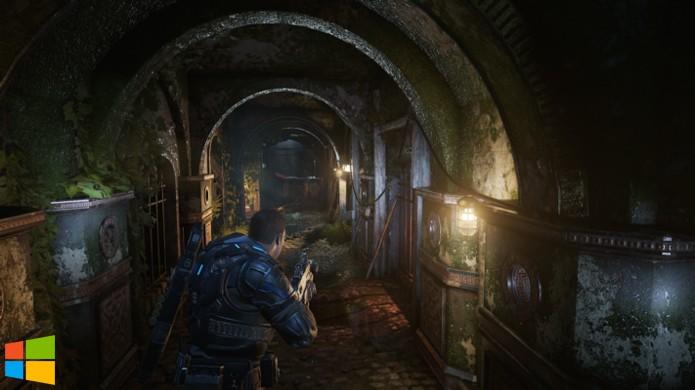 Mesmo com mais efeitos de iluminação e detalhes no Windows 10, a versão Xbox One de Gears of War 4 não fica muito atrás (Foto: Reprodução/Hardcore Gamer)