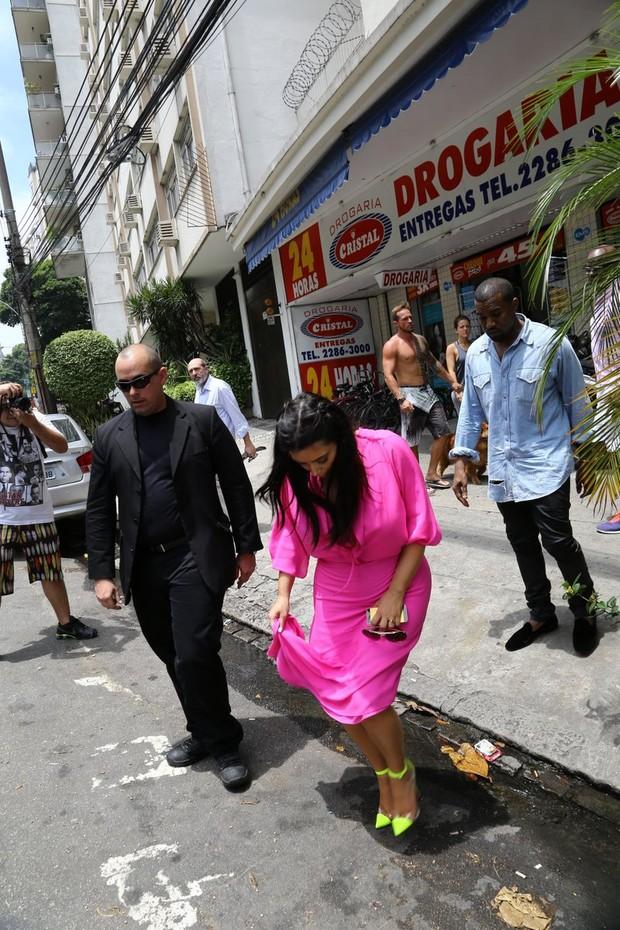 Kim Kardashian e Kanye West (Foto: Gabriel reis/ Ag. News)