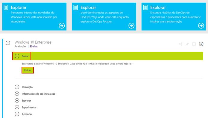 Windows 10 Enterprise permite testar sistema operacional sem apagar versão antiga (Foto: Reprodução/Microsoft)