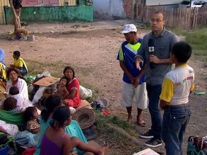 PREP_ Refugiados na fronteira do Brasil com a Venezuela (Foto: TV Globo)