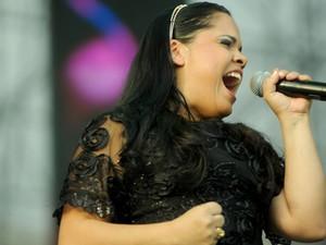 A cantora Cassiane se apresenta na segunda edição do Festival Promessas, no Campo de Marte, em São Paulo (Foto: Flavio Moraes/G1)