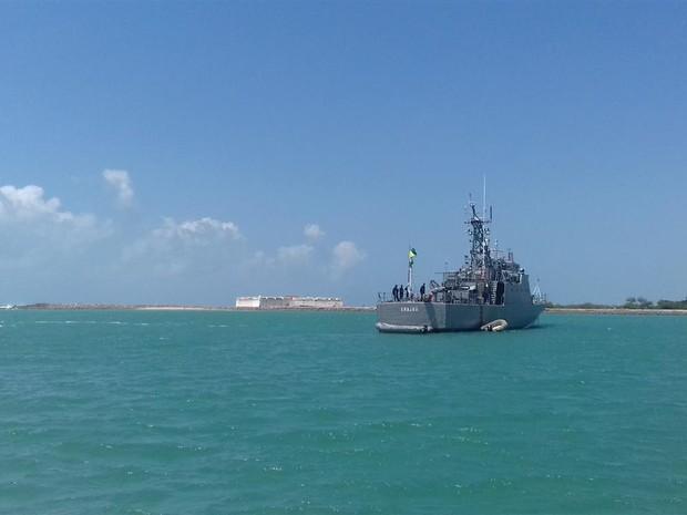 Navio-Patrulha Grajaú é um dos envolvidos na Operação Potiguar (Foto: Marinha do Brasil/Divulgação)
