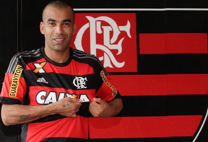 Emerson Sheik apresentação Flamengo (Foto: Reprodução/ Twitter)
