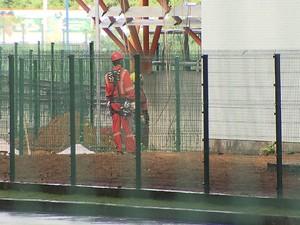 Morte ocorreu na área operacional dos vagões. (Foto: Reprodução/TV Bahia)