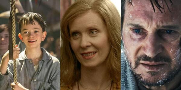 O atores Lewis MacDougall, Cynthia Nixon e Liam Neeson (Foto: Divulgação)