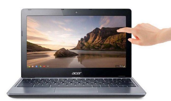 Lá fora, a Acer faz mais sucesso com seu C7209, Chromebook touch (Foto: Divulgação)