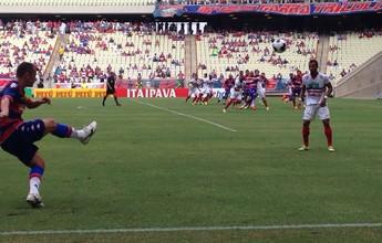 """Após tomar três gols no Nordestão, Naylson critica árbitro: """"Complicou"""""""