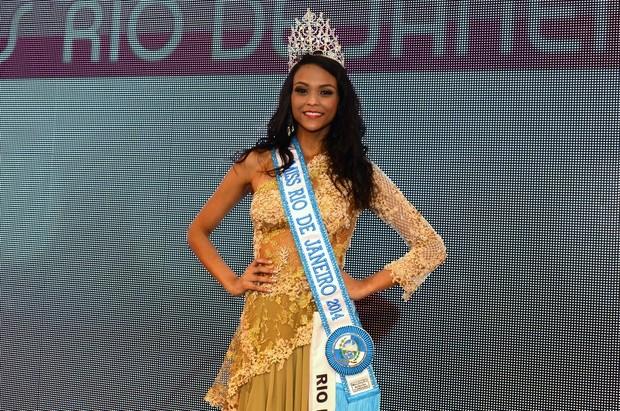 Hosana Elliot vence o concurso Miss Universo RJ 2014 (Foto: Roberto Teixeira/EGO)