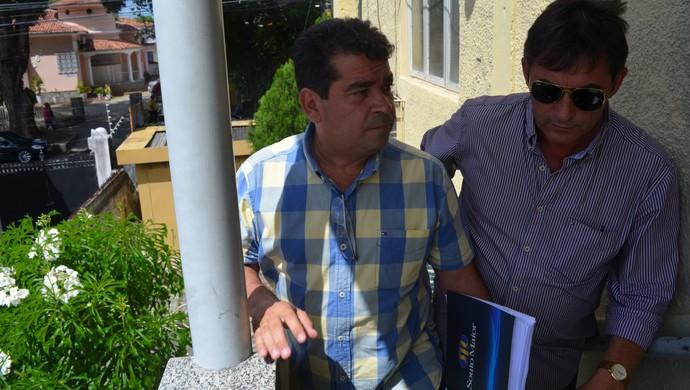Amadeu Rodrigues, Federação Paraibana de Futebol, FPF, registro, Nosman Barreiro (Foto: Larissa Keren / GloboEsporte.com/pb)